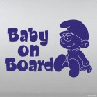 Decal Baby on Board Smurfs Muddler