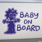 Decal Baby on Board Maggie Simpson