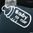 Decal Baby in Car bottle