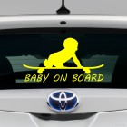 Decal Baby on Board a child on a skateboard 3