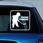 Decal Baby on Board little hockey player
