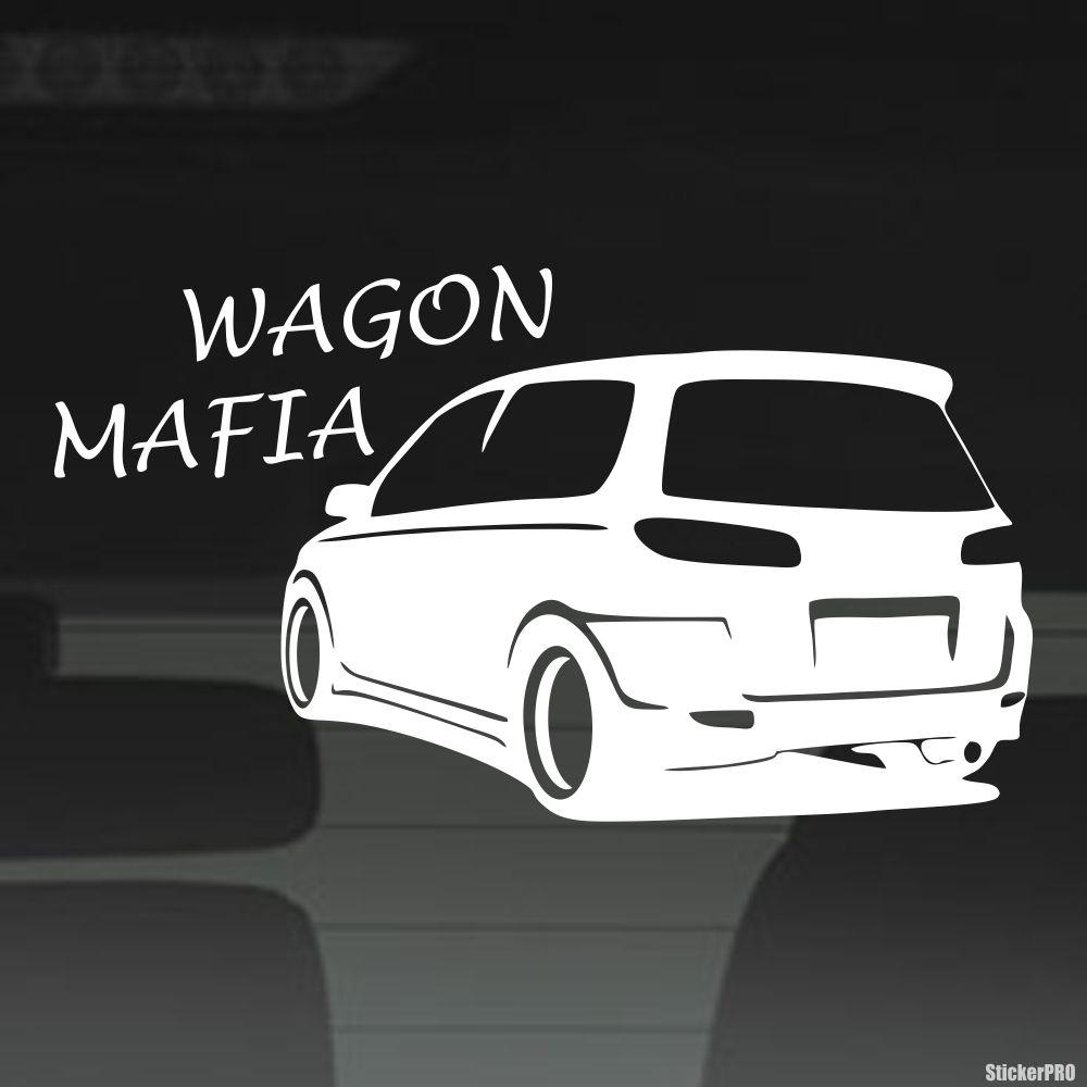 Decal mazda demio wagon mafia
