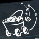Decal Bucket with bolts on wheels