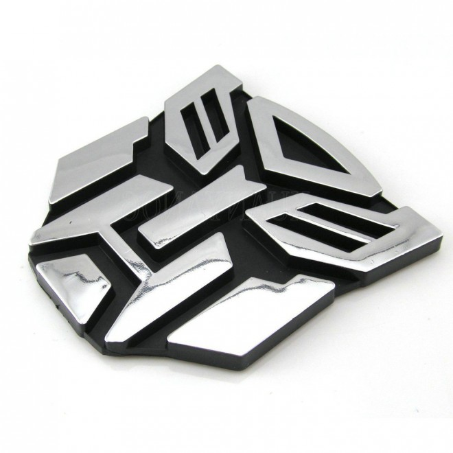 3D Sticker on car transformer Autobot