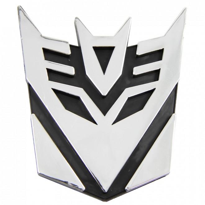 3D Sticker on car transformer Decepticon