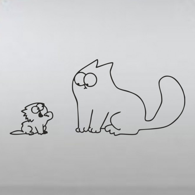 Decal Simon's Cat and the kitten