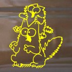 Decal Simon's Cat and kitten