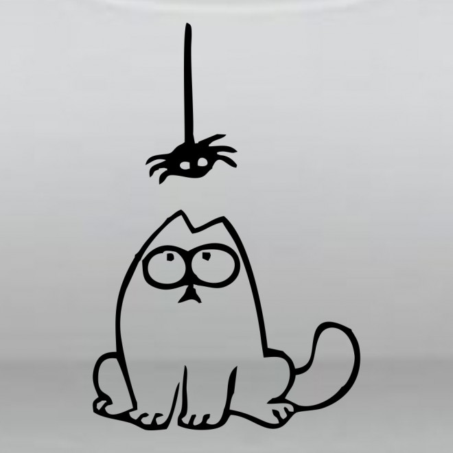 Decal Simon's Cat and the spider