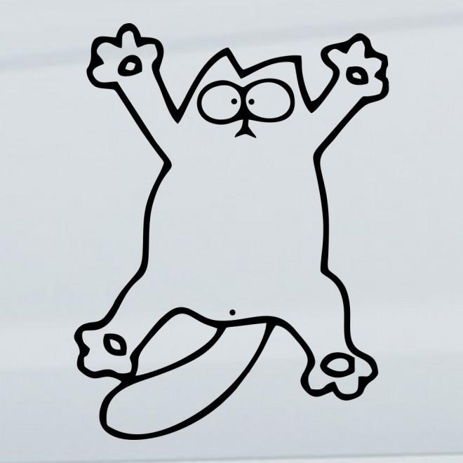 Decal Simon's Cat hanging