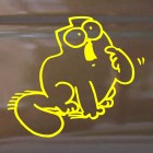 Decal Simon's Cat asking for food