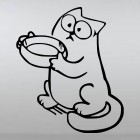 Decal Simon's Cat asking for food on its hind legs