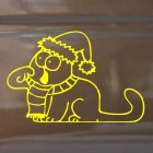 Decal Simon's Cat in Santa hats asking for food