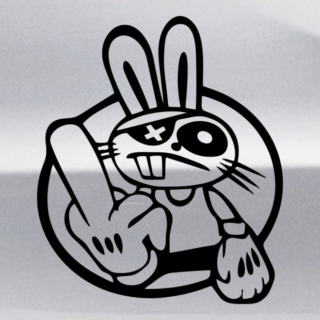 Decal rabbit pirate gesture JDM
