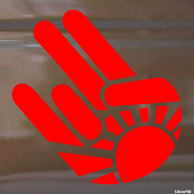Decal Shocker gesture rising sun JDM
