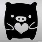 Decal Monokuro Boo with heart JDM