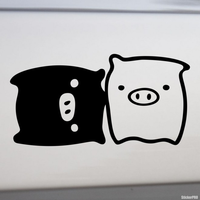 Decal Monokuro Boo lying & standing JDM