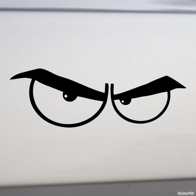 Decal angry eyes
