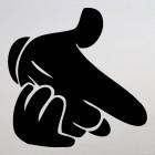 Decal paper gun hand gesture