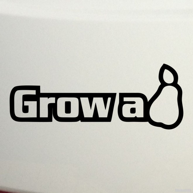 Decal grow a pear JDM