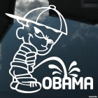 Decal bad boy Calvin pee on Obama 2