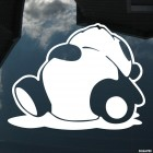 Decal sleepy panda