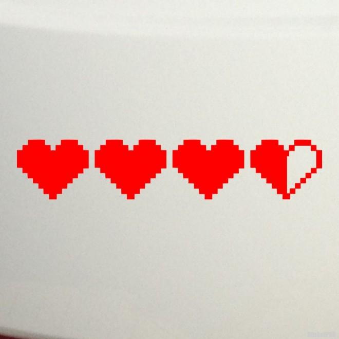 Decal Zelda Life Hearts JDM