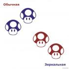 Decal Toad Mushroom 1UP Super Mario Bros Nintendo game JDM