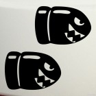 Decal two bullet Bill from Super Mario Bros nintendo game JDM