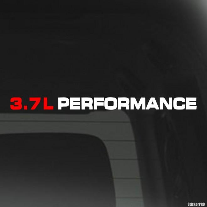 Decal 3.7L Performance JDM