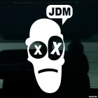 Decal a man says JDM
