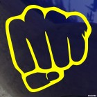 Decal fist gesture