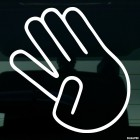 Decal taken away finger gesture JDM