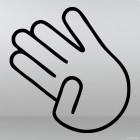 Decal little finger taken away gesture JDM