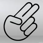 Decal 2 fingers gesture JDM