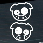 Decal Set for rear-view mirrors JDM Subaru Pig