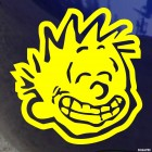 Decal bad boy Calvin smiling