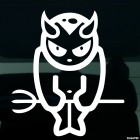 Decal Little devils with horns and trident JDM