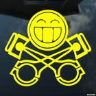 Decal smiley and 2 piston JDM