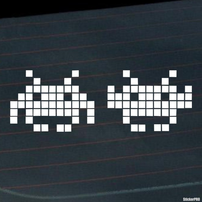 Decal Space Invaders JDM