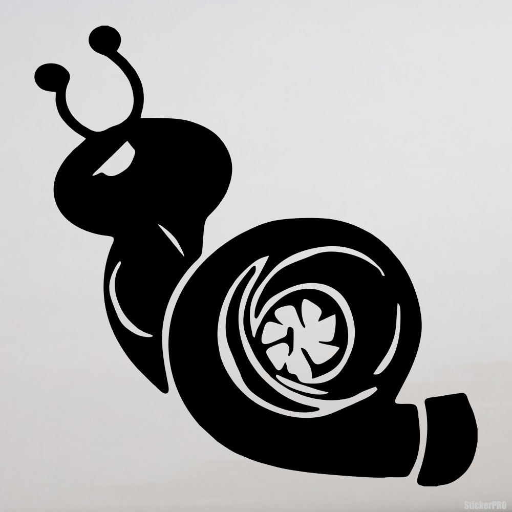 Decal angry snail turbo buy vinyl decals for car or interior decal