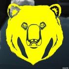 Decal bear head