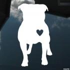 Decal Bulldog Dog with Heart