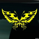 Decal butterfly flames tattoo 2