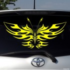Decal butterfly flames tattoo