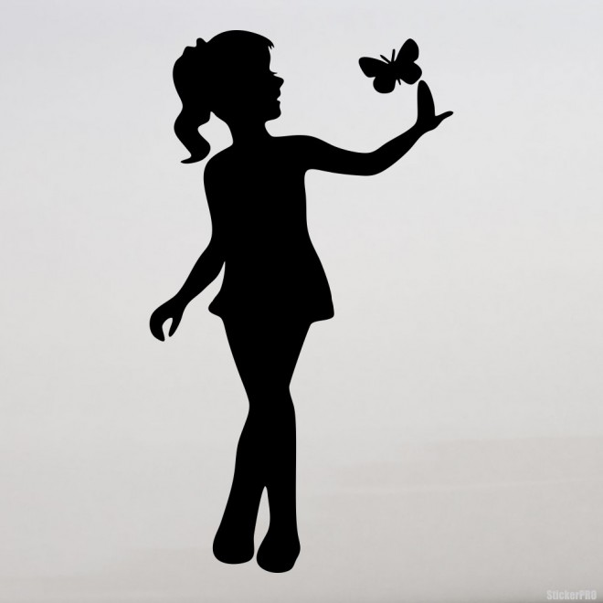 Decal butterfly and girl