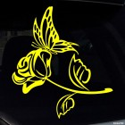Decal butterfly and rose