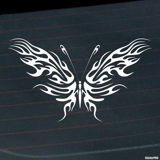 Decal butterfly flames tattoo 3