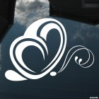 Decal butterfly with heart-wings