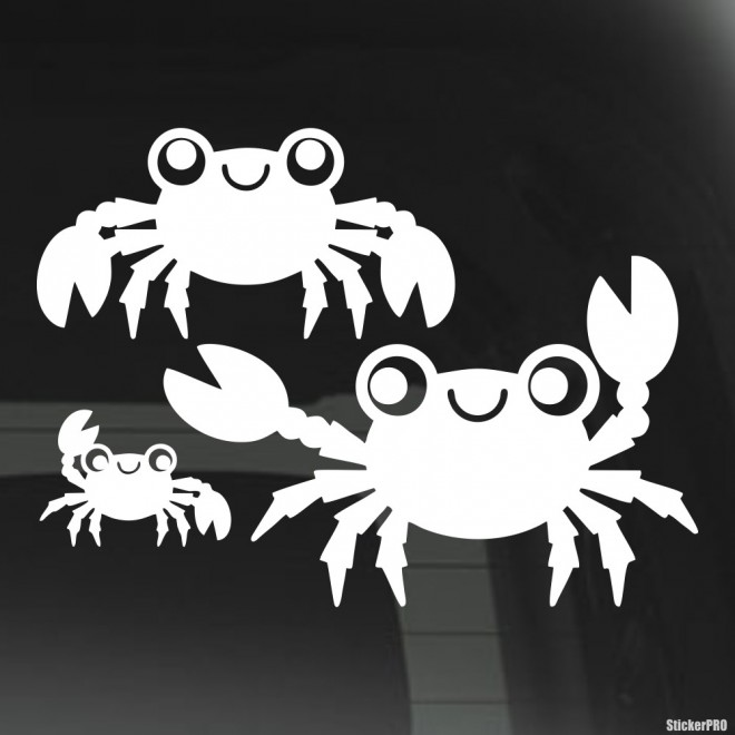 Decal crab family