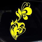 Decal interior flowers and butterflies 2
